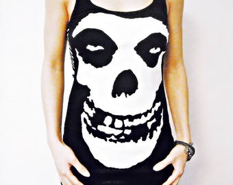 The Misfits shirt tank top Band tee t-shirt punk Rock chic clothing rocker clothes alternative apparel studded horror rockabilly metal dark