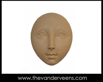Mold No.128 (Flater face with open eyes) by Veronica Jeong