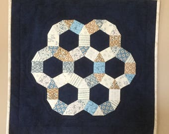 Quilted table topper or wall hanging - free shipping