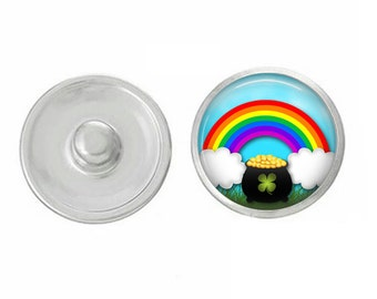 Pot of Gold Snap - Rainbow - Compatible with Studio66 LLC -  Gingersnaps - Magnolia and Vine - Noosa 18-20mm Base - Handpressed Snaps