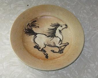 Rockhard Stoneware shallow bowl decorative horse