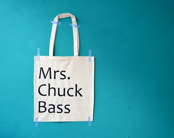 Mrs. Chuck Bass shopping bag - Ed westwick - Gossip Girl - Blair Waldorf - shopping tote
