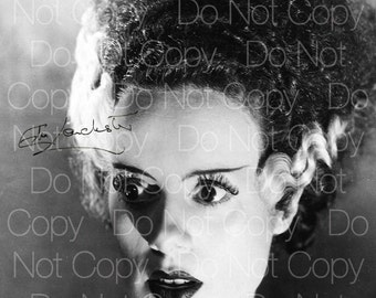 Elsa Lanchester signed Bride Frankenstein 8X10 photo picture poster autograph RP