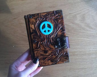 Steampunk Journal, Leather Journal, Leather Notebook, Leather Sketchbook, Travel Journal, Diary