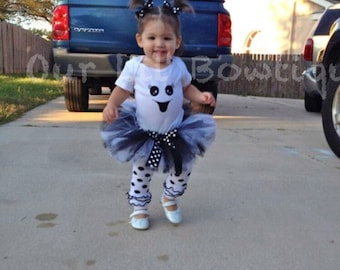 Ghost Halloween Costume - Ghost Tutu - Ghost Shirt - Ghost Costume
