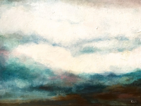 Abstract clouds landscape large original