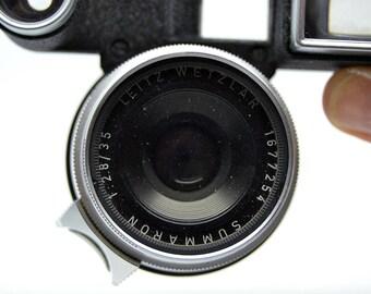 Vintage Lens LEITZ WETZLAR SUMMARON f/2.8 /35 - Serial number #1677254