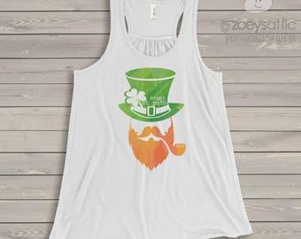 St. Patrick's Day shirt - happy st pats flowy tank top SNLS-052-f