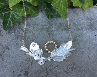 Large Statement Wreath Necklace