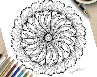 Printable Adult Colouring Page Flutterby