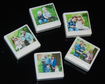 Magnets! 1-50 Mini Ceramic Glass Photo Magnets - Made to Order - Unlimited Photos (1-50)