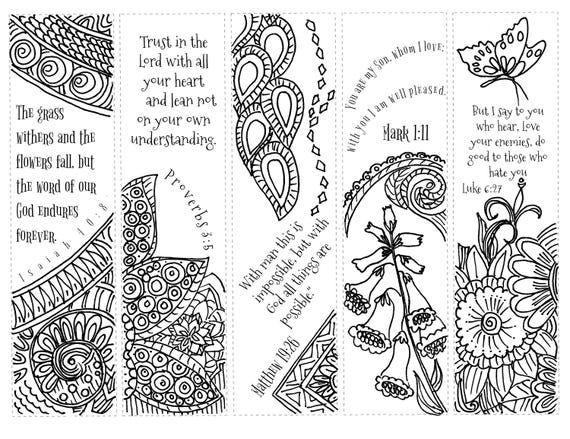 Bible Journaling Printable Margin Strips Coloring Bible