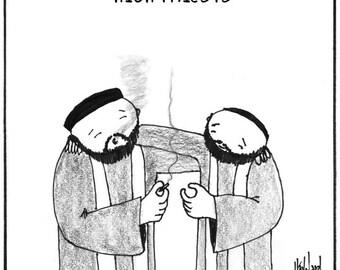 High Priests Happy 420 CARTOON
