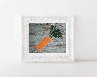 Vintage Bunch of Carrots Print