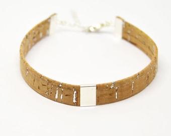Cork men bracelet