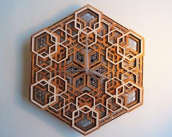 Time 02 /  Sacred Geometry Clock
