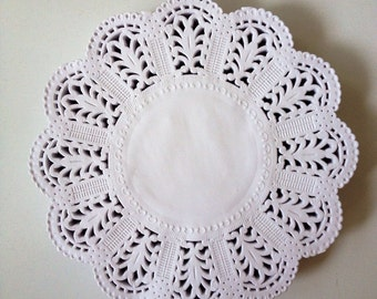 """Wedding paper Lace Doily 5"""" for Scrap booking or card making / pack"""