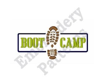 Boot Camp - Machine Embroidery Design