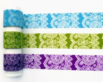 Classiky lace washi tape sampler set
