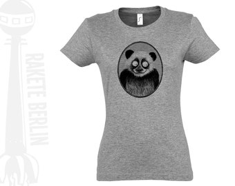 Lady T-Shirt 'Panda drawing'