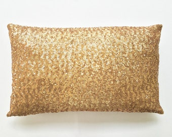 Inspirational Gift, Sequin Pillow Cover, Housewarming Gift, Sparkle Pillow, New Home Gift, Gold Pillow Cover, Inspirational Women Gift