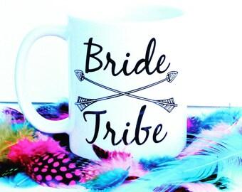 Bride Tribe Mug   Bride Tribe Coffee Mug   Monogrammed Bride Tribe Mug   Bridesmaid Gift   Bridesmaid Proposal Mug   Bridal Party Gifts