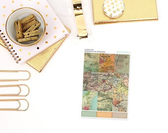 fb08 // Maps » Full Box Planner Stickers - Fits Vertical Erin Condren Planners