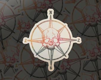 Skull Compass / North262 Twitch Logo Sticker