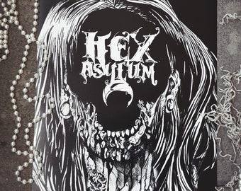 """HexAsylum """"Hollow Moon"""" Poster"""
