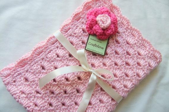 Baby Girl Blanket Crochet baby blanket Sweet Pink Arch
