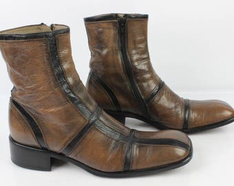 Vintage JEAN CLAUDE MONDERER boots all leather Brown shade Uk 5.5 / Fr 38.5 good condition (104)