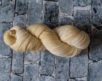 Yarn, Sock Yarn, Hand Dyed Yarn, Yellow Yarn,  Superwash Merino Wool - Granny's Buttercream Frosting