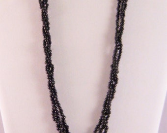 Multi-Strand Black Coral Necklace