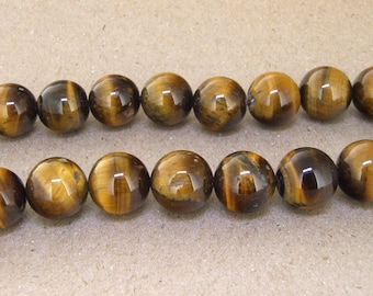 "One Full Strand -- Charm AB  Yellow Tiger Eye Stone Gemstone Beads--- 14mm ----about 29Pieces---- 15.5"" in length"