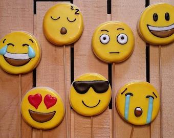 Emoji Cookies!  Your choice of 1 Dozen faces