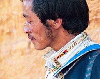 The Bard, Music of Tibet, art photography, portrait, fine art print, wall decoration, Asia, home decor, 8x12