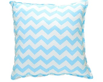 Pillow Square - Blue ZigZag