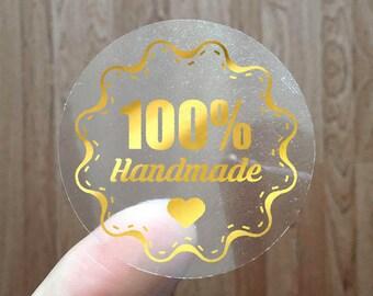 100% HANDMADE - Gold Foil Labels - Sticker - Seal - #11