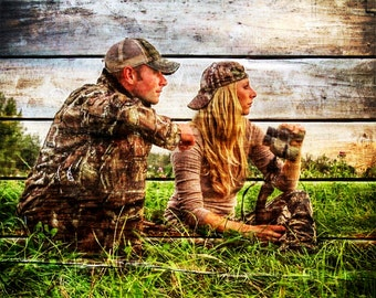 Hunter Gift Outdoorsman Gift Photo Gift Photo On Wood Gift For Couple Gift For Him Gift For Husband Wood Print Rustic Home Decor 16x20