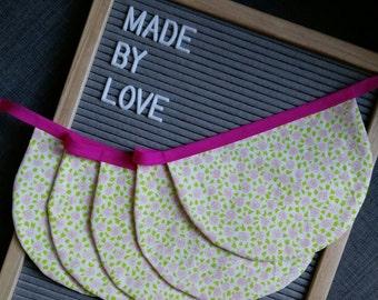 Rose Flower fabric bunting / garland / pennant - Rose Garden - madebylove