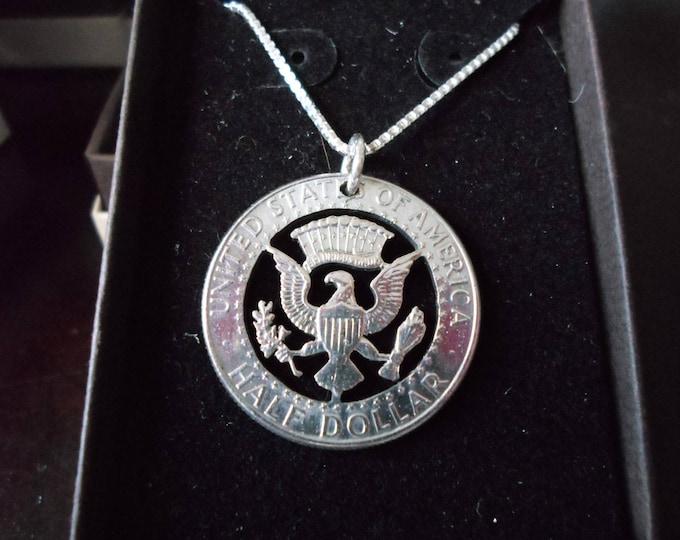 Kennedy half dollar necklace