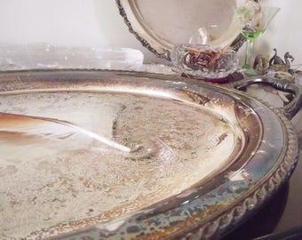 Vintage Silver Platter - Large