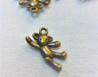 1 charm bear / teddy bear bronze 20x12mm