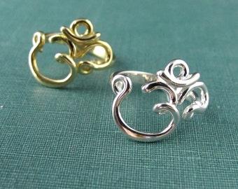 Om Ring in sterling silver or brass
