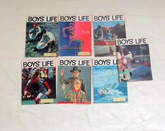 Vintage 1971 Boys' Life magazine lot 60th Anniversary issue Norman Rockwell Boy scouts 1973 March Ferguson Jenkins