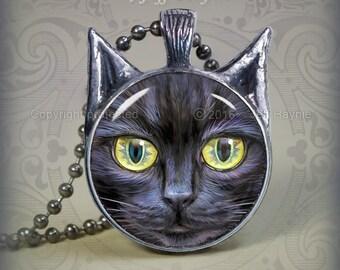BLK10 Black Cat pendant