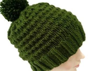 St Patricks Day Hat - Irish Hat - Pom Pom Ski Hat - Irish Green Beanie - Green Ski Hat - Teen Ski Hat - Gifts for Teens - Bobble Hat