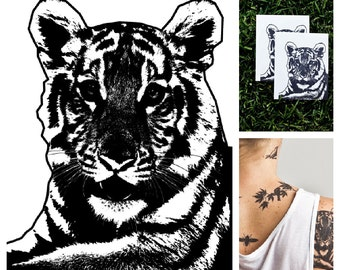 Tiger - temporary tattoo (Set of 2)