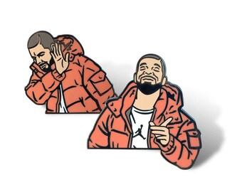 Drake Hard Enamel 2 Pin Set