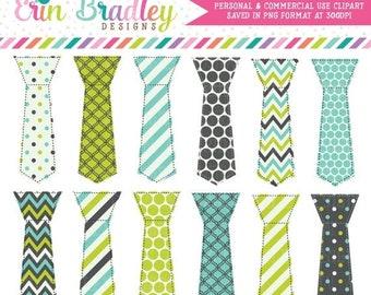 80% OFF SALE Tie Clipart Graphics Lime Green Blue Charcoal Gray Little Man Tie Digital Clip Art Personal Commercial Use Instant Download